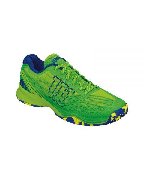 Zapatillas Wilson Kaos Gr Verde Azul Wrs322190