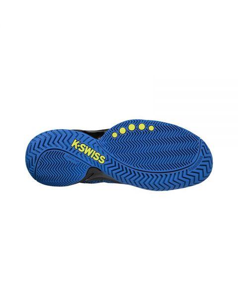 ecef1e767 K-SWISS KNITSHOT NEGRO AZUL AMARILLO - Zapatillas de pádel más baratas