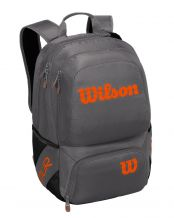 MOCHILA WILSON TOUR V BACKPACK GRIS METAL NARANJA