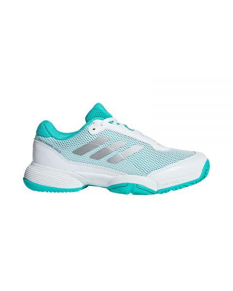 Adidas Barricade Club Xj Niño Blanco Azul Bb7934