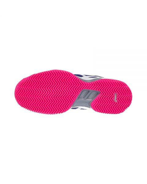 nueva estilos niño diseño superior Asics Gel Padel Pro 3 SG Azul Marino Rosa Mujer ...