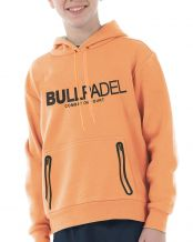 SUDADERA BULLPADEL ORTEX JUNIOR NARANJA FLUOR