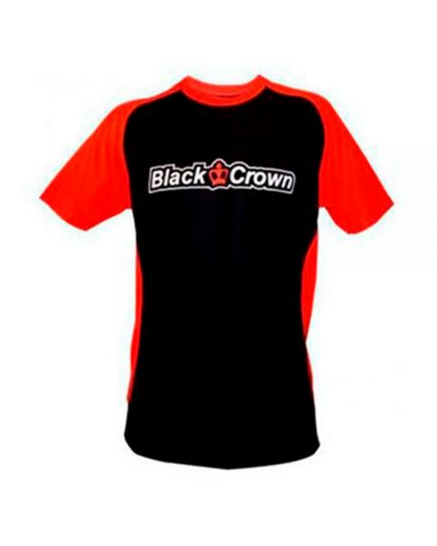 CAMISETA BLACK CROWN STOP NEGRO ROJO