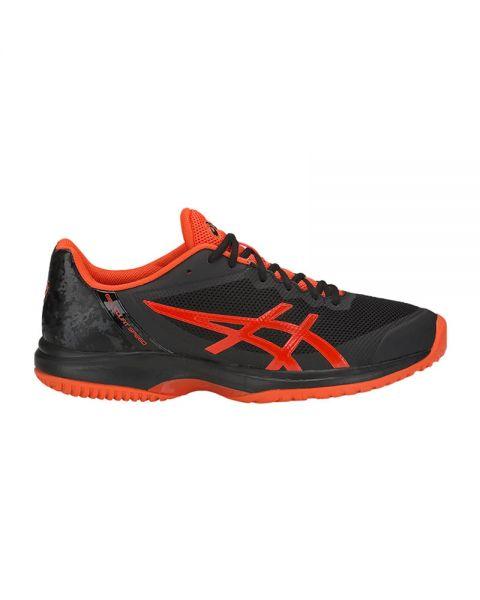 Asics Gel Court Speed Clay Negro Naranja E801n 011