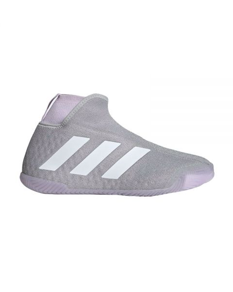 Adidas Stycon Laceless Hard Court Gris Lila Mujer Ef2696
