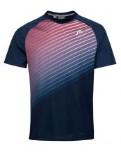 CAMISETA HEAD PERFORMANCE AZUL MARINO ROJO