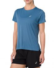 CAMISETA ASICS SILVER SS AZUL AZUFRE MUJER