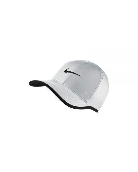 075b7b1d5 Gorra Nike Feather Light Blanco Negro - Protección Solar
