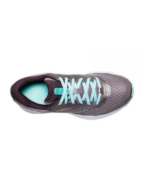 SAUCONY COHESION 12 GRIS AZUL MUJER S10471-1