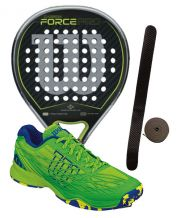 PACK WILSON CARBON FORCE PRO Y ZAP WILSON KAOS CLAY