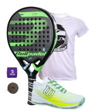 PACK BULLPADEL VERTEX CONTROL 2018 Y ZAPATILLAS WILSON