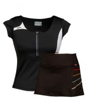 PACK FALDA VARLION MD11W03 NEGRO Y CAMISETA VARLION NEGRO