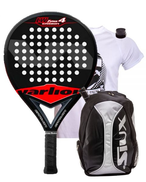 PACK VARLION LW ZYLON 4 BLACK LTD Y MOCHILA SIUX PLATA