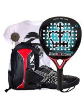 PACK BLACK CROWN SPIDER, MOCHILA SIUX Y ZAPATILLAS SOFTEE WINNER 1.0