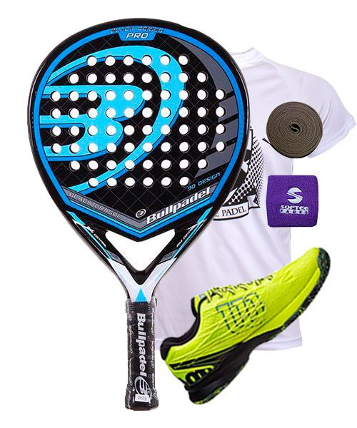 PACK BULLPADEL BLACK DRAGON Y ZAPATILLAS WILSON KAOS SAFETY AMARILLO