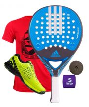 PACK ADIDAS REALPOWER CTRL Y ZAPATILLAS WILSON KAOS SAFETY AMARILLO