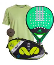 PACK ADIDAS REAL POWER CTRL 1.8, PALETERO EME Y CAMISETA WINGPADEL