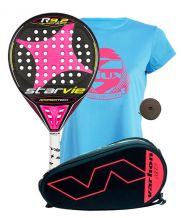 PACK STAR VIE R9.2 DRS CARBON SOFT FUCSIA Y PALETERO VARLION HEXAGON CORAL