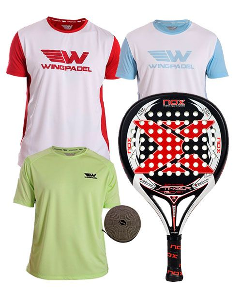PACK NOX STINGER 2.1 LEGEND Y 3 CAMISETAS WINGPADEL