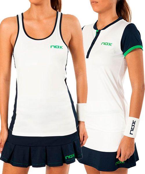 NOX Camiseta Tirantes Padel Blanca