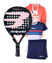PACK BULLPADEL GOLD 3.0 WOMAN  SUDADERA Y EQUIPACION LUXURY