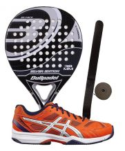 PACK BULLPADEL SILVER EDITION Y ZAPATILLAS ASICS GEL EXCLUSIVE