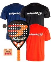 PACK BULLPADEL VERTEX 2 CON 3 CAMISETAS BULLPADEL