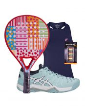 PACK AGATHA DOTS AND STRIPES Y ZAPATILLAS ASICS GEL CHALLENGER 11 CLAY