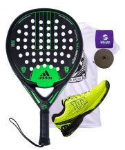 PACK ADIDAS ADIPOWER CTRL Y ZAPATILLAS WILSON KAOS SAFETY AMARILLO