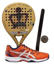 PACK BLACK CROWN PITON 3.0 Y ASICS GEL PADEL EXCLUSIVE 4SG