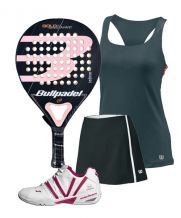 PACK BULLPADEL GOLD WOMAN 3.0 Y ZAPATILLAS VARLION MAGENTA