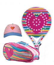PACK AGATHA HEART RELIEF, PALETERO HEART RELIEF Y GORRA HEART