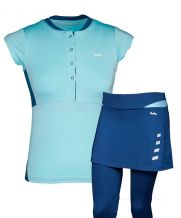 PACK VARLION FALDA MD13W13 AZUL Y POLO MD13W12 CELESTE