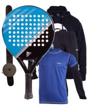 PACK ADIDAS FAST COURT AZUL Y EQUIPACION