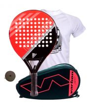 PACK ADIDAS FAST COURT Y PALETERO VARLION HEXAGON CORAL
