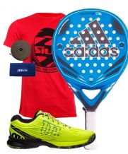 PACK ADIDAS NITROCHARGE CONTROL Y ZAPATILLAS WILSON KAOS SAFETY AMARILLO