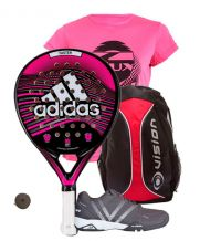 PACK ADIDAS FASTER PINK Y ZAPATILLAS VARLION V-PRO MAX MUJER GRIS