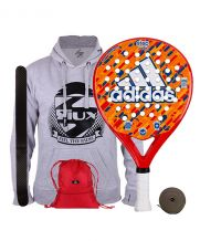 PACK ADIDAS STEP JUNIOR Y GYMSACK SIUX ROJO