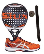 PACK SIUX OPTIMUS PRO Y ZAPATILLAS ASICS GEL PADEL EXCLUSIVE 4SG