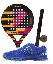 PACK BULLPADEL KATA LIGHT 2017 Y ZAP WILSON KAOS WOMAN
