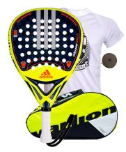 PACK ADIDAS ADIPOWER Y PALETERO VARLION AMARILLO
