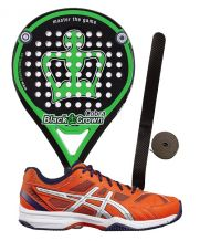 PACK BLACK CROWN COBRA Y ASICS GEL PADEL EXCLUSIVE E515Q 0601