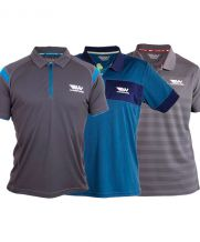 PACK 3 POLOS WINGPADEL, POLO MIPER GRIS Y AZUL, POLO W-THEO AZUL y POLO W-IVO GRIS