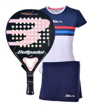PACK BULLPADEL GOLD 3.0 WOMAN Y EQUIPACION LUXURY