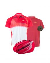 PACK PALETERO BULLPADEL CAMISETA TUBUELO Y POLO TIRRENIA
