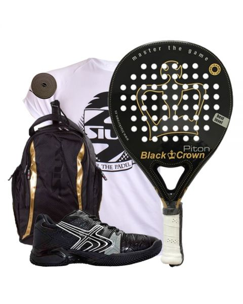 PACK BLACK CROWN PITON MOCHILA SIUX DIABLO Y SOFTEE WINNER 1.0
