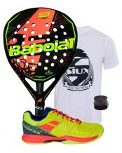 PACK BABOLAT VIPER CARBON Y ZAPATILLAS PULSION WPT