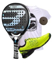PACK BULLPADEL HACK CONTROL Y ZAPATILLAS WILSON KAOS SAFETY AMARILLO