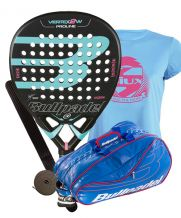 PACK BULLPADEL VERTEX 2 WOMAN Y PALETERO BULLPADEL AVANTLINE AZUL