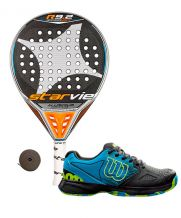 PACK STAR VIE R9.2 DRS CARBON Y ZAPATILLAS WILSON DEVO